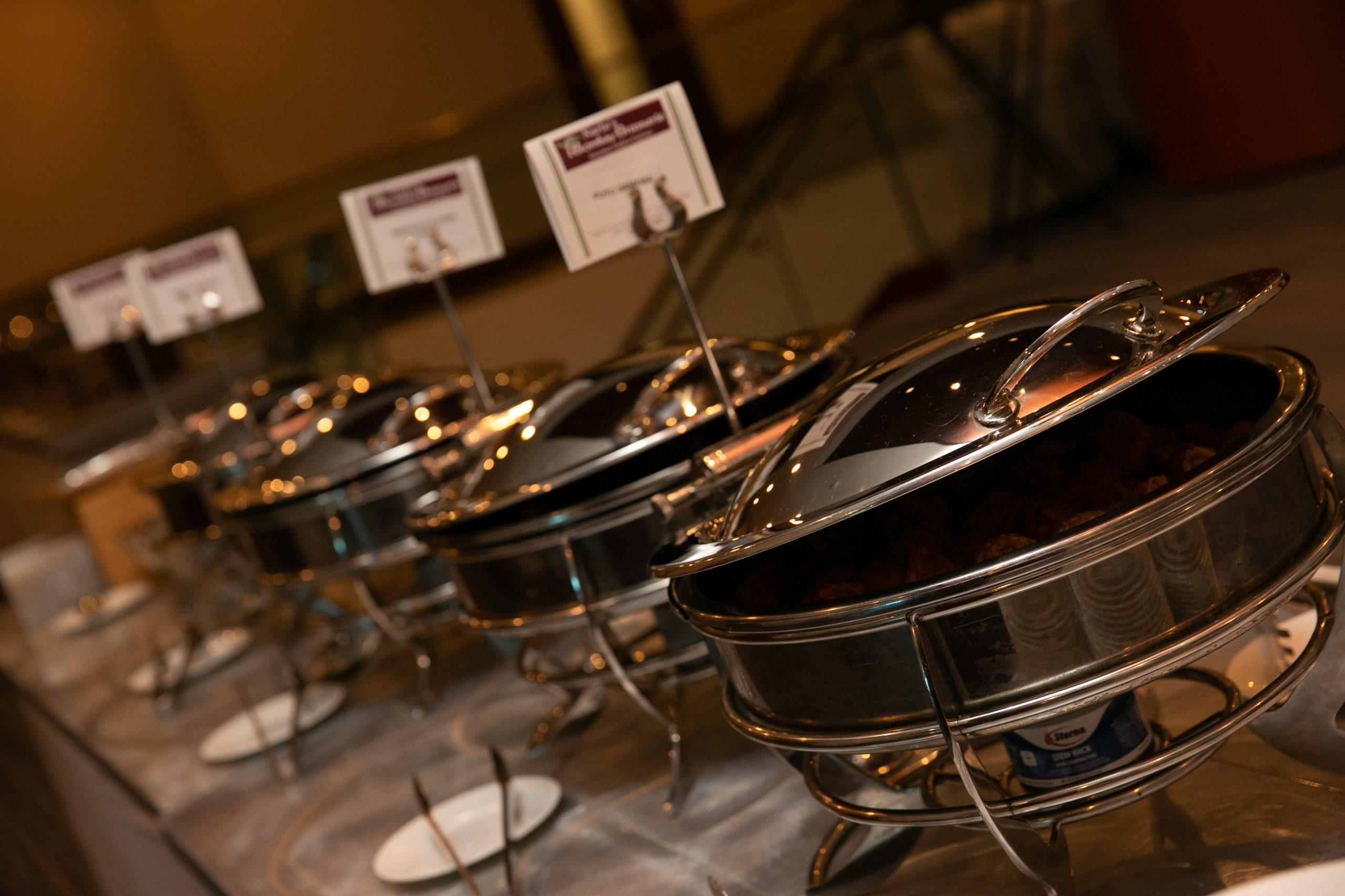 inidan wedding food buffet Bombay Brasserie Indian Caterer