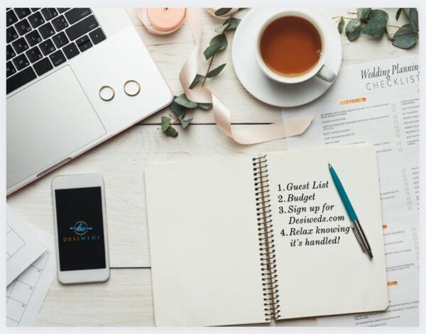 indian wedding planning checklist, timeline, planning list